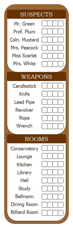Handy, for when you need to play Clue and are out of the scorecards. Or if you…