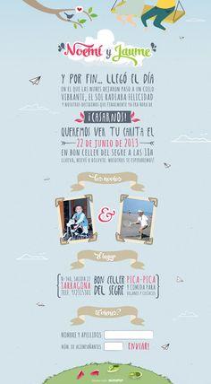 Página web Invitación de boda: Amor en las nubes // Online wedding invitation web: Love in the clouds