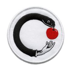 """Artwork by Brknhome for Humongous. 3"""" diameter embroidered patch with iron-on backing."""