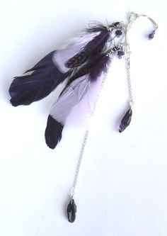 Amethyst Queen, ear cuff, by Joni Russell, Crystal Mist Cottages