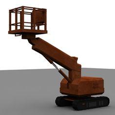 Platforms Crane Industrial 3Ds - 3D Model