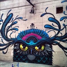 Streetart owl