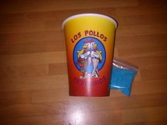 Los Pollos Hermanos Cup and Candy for Breaking Bad Party #BreakingBad