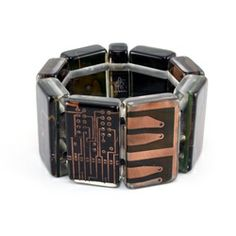 Love this Sobral bracelet made of resin and recycled circuit board parts.