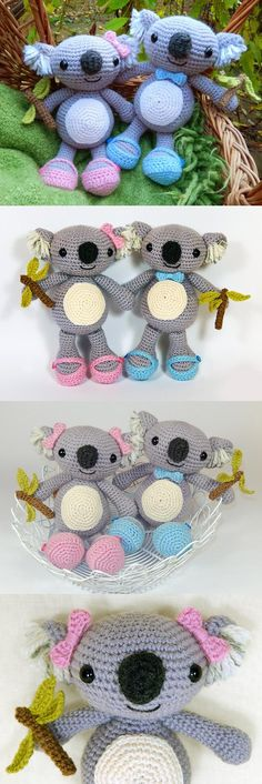 Crochet Koalas... I'm in love! Found at Amigurumipatterns.net