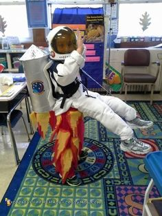 My son wanted to be an astronaut but that seemed a bit moring, so I wanted to give it a twist. We decided to make it look like he was floating while a...