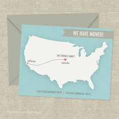 Out of State Moving Announcements. This is such a good idea! Everyone will know your new address.