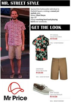 Streetstyle from our blog @theagameblog #streetstyle #floralprint #menswear #mrprice #getthelook #summervibes