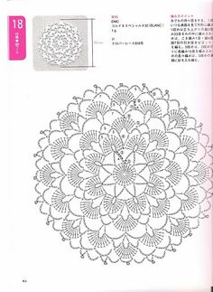 Crochet Lace Japan – – Picasa Web Albums is creative inspiration for us. Get more photo about home decor related with by looking at photos gallery at the bottom of this page. We are want to say thanks if you like to share this post to another people via … Crochet Doily Diagram, Crochet Motif Patterns, Crochet Chart, Thread Crochet, Crochet Designs, Crochet Stitches, Dress Patterns, Crochet Dollies, Crochet Lace