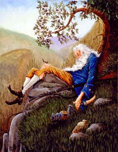 Rip Van Winkle lived in a village in New York State back in the days when it was still ruled by the British. He fell asleep for 20 years and woke up to find that there had been some very big changes (at least on the surface). Audio Stories For Kids, Nc Wyeth, Rip Van Winkle, Les Fables, Readers Theater, Interesting Faces, Story Time, Back In The Day, American Artists