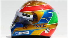 2014 F1 drivers helmets - Guiterrez
