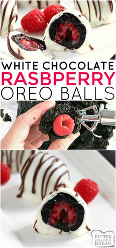 White Chocolate Raspberry Oreo Balls are a delicious no-bake treat made with Oreo cookies, cream cheese and a raspberry in the middle! These Oreo Balls are dipped in a white chocolate candy coating and coated with a chocolate drizzle. Hot Fudge Cake, Hot Chocolate Fudge, White Chocolate Candy, White Chocolate Raspberry, Homemade Chocolate, Chocolate Drizzle, Chocolate Lovers, Winter Desserts, Party Desserts