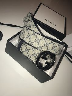 e6b9b91f4be Gucci GG Supreme Belt w  Chrome Buckle  fashion  clothing  shoes   accessories