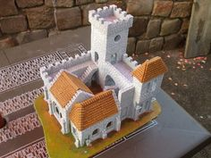 Fieldstone castle with nice layout by protana Medieval Tower, Medieval Castle, Castle Project, Hirst Arts, Toy Castle, Rpg Map, Dungeon Tiles, Fantasy Model, Minecraft Blueprints
