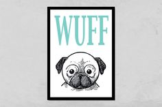 Kunstdruck Hund  von PapierMond auf DaWanda.com