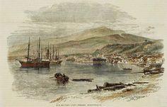 """vue de la baie de """"Saint-Pierre"""" Martinique."""