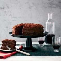 This phenomenal, high-rising cake from pastry star Gale Gand is layered with an intensely chocolaty custard and coated with cake crumbs.