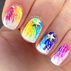 Colorful Drop Nails