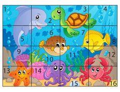 hayvanlar_puzzle_sayılar Kindergarten Learning, Preschool Learning Activities, Preschool Curriculum, Baby Learning, Infant Activities, Kids Educational Crafts, Preschool Puzzles, Numbers Preschool, Puzzles For Kids