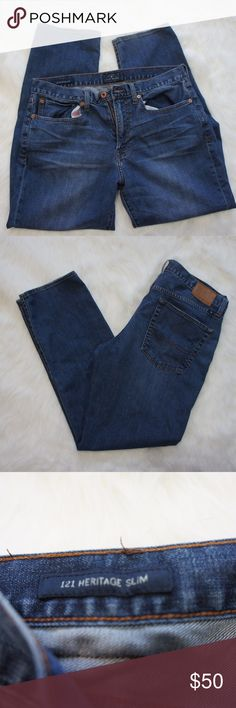 Lucky Brand 121 Heritage Slim jeans 34 Used but great condition jeans from Lucky.  34 x 30, slim fit, Heritage design.  Your classic dark blue jeans with a slim cut. Lucky Brand Jeans Slim