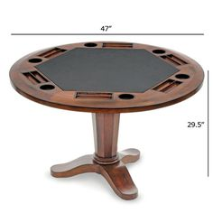 Six Player Poker Table | Quality 6 Player Poker table by Thos. Baker