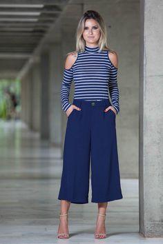 Blusa Listrada Azul Veneza
