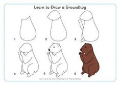 how to draw a groundhog for kids | Learn to Draw a Groundhog