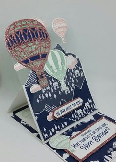 Stampin' Up! Demonstrator stampwithpeg :Pootlers Team Birthday Blog Hop – Lift Me Up & Carried Away Easel Birthday Card.  Today I am taking part in a blog hop with other members of…