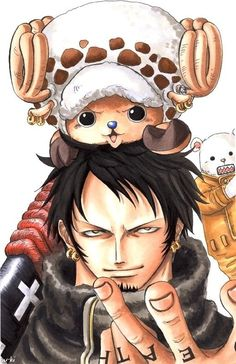 Trafalgar Law and Chopper from One Piece | Bepo is photobombing! HAHA