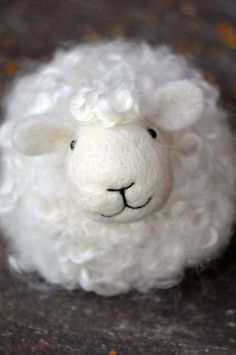 sheep crafts | DIY Kit Sheep Needle Felting Kit Lamb Craft by BearCreekDesign