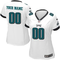 9c7816fa626 Nike Philadelphia Eagles Customized White Stitched Elite Women's NFL Jersey  Eagles Store, Eagles Jersey,