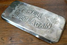Antique Coffin Funeral Plaque We'll Meet Again by KrauseHaus