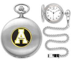 NCAA Appalachian State Mountaineers-Pocket Watch - Silver