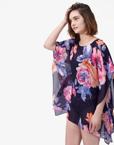 Rosanna Navy Rose Summer Cover up , Size One Size Summer Cover Up, Joules Uk, Sweaty Betty, Women's Accessories, Floral Tops, Ditsy, Navy, Clothes For Women, My Style