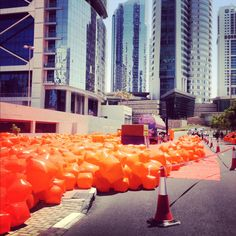 Day 216: Something orange happening down in JLT today #mb365