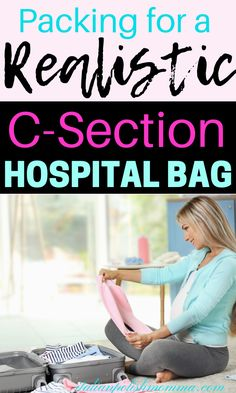 Need a packing list for a scheduled c-section? Here you'll find a realistic c-section hospital bag packing list with a free printable checklist included! This last minute hospital bag list is perfect for first time moms having a scheduled c-section! Third Baby, First Baby, Scheduled C Section, Lamaze Classes, Hospital Bag Checklist, After Baby, Pregnant Mom, First Time Moms, Baby Hacks
