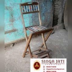 kursi Kafe Rustik Minimalis Kayu Jati Berkualitas - Singa Jati Folding Chair, Outdoor Furniture, Outdoor Decor, Modern, Home Decor, Trendy Tree, Decoration Home, Room Decor, Folding Stool