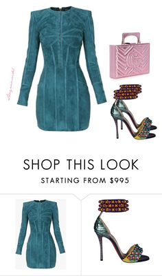 """""""JustDress"""" by shaynamaidel on Polyvore featuring Balmain, Christian Louboutin and Gucci"""