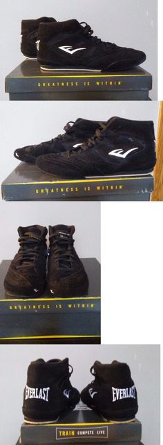 Shoes and Footwear 73989: Everlast 8000 Black Suede Mesh Boxing Low-Top Shoes 7.5M -> BUY IT NOW ONLY: $35 on eBay!