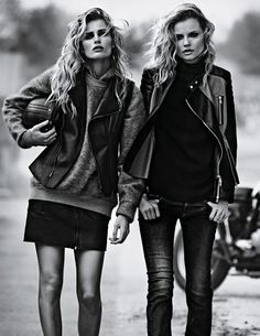 the wild ones: magdalena frackowiak and edita vilkeviciute by lachlan bailey for w september 2013