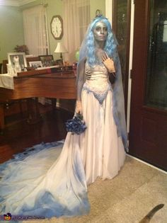 Sadie: costume worn by myself. the idea cam from Tim Burtons movie The Corpse Bride thrifted the dress, shoes, gloves, ring, etc. spray painted everything to make it the proper color,...