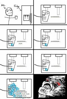 Icemaker Rage. the funniest new meme website