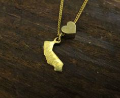 California Love  NONengraved State Charm Necklace by BrooklynCharm, $18.00