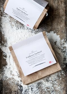 Knuthenlund Organic Flour designed by Wunsch Beverage Packaging, Food Packaging, Brand Packaging, Packaging Design, Packaging Ideas, Snack Boxes Healthy, Scarf Packaging, Food Graphic Design, Photography Logo Design