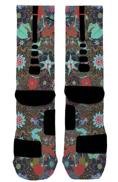 Crazy Floral Custom Nike Elites