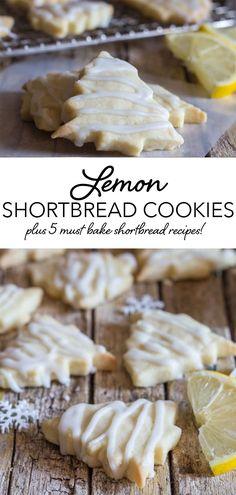 Best Shortbread Cookies, Shortbread Recipes, Sugar Cookies Recipe, Lemon Cookie Recipe, Christmas Shortbread Cookies, Shortbread Biscuits, Easter Cookies, Christmas Cookies, Lemon Christmas Cookie Recipe
