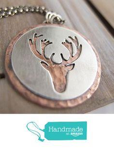Deer Reindeer Hunter Necklace from Radiant Jewel Studio http://www.amazon.com/dp/B01BKYWE3A/ref=hnd_sw_r_pi_dp_DAsUwb032YQP9 #handmadeatamazon