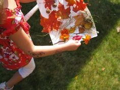 Nature Collage and scavenger hunt/nature walk #fall