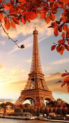 Eiffel Tower Autumn Sunset 4K Ultra HD Mobile Wallpaper. Eiffel Tower Photography, Paris Photography, Nature Photography, Travel Photography, Paris Wallpaper Iphone, City Wallpaper, Scenery Wallpaper, Beautiful Wallpaper Hd, Whats Wallpaper