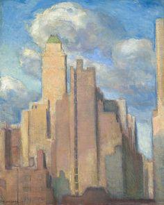 Edith Mitchill Prellwitz (1864-1944)  Brick and Vapor, New York City, 1939